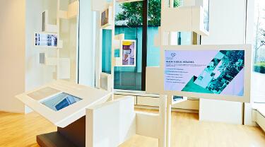 Multi Media Information Screens in Abdul Latif Jameel's Visitor Center in Tokyo, Japan