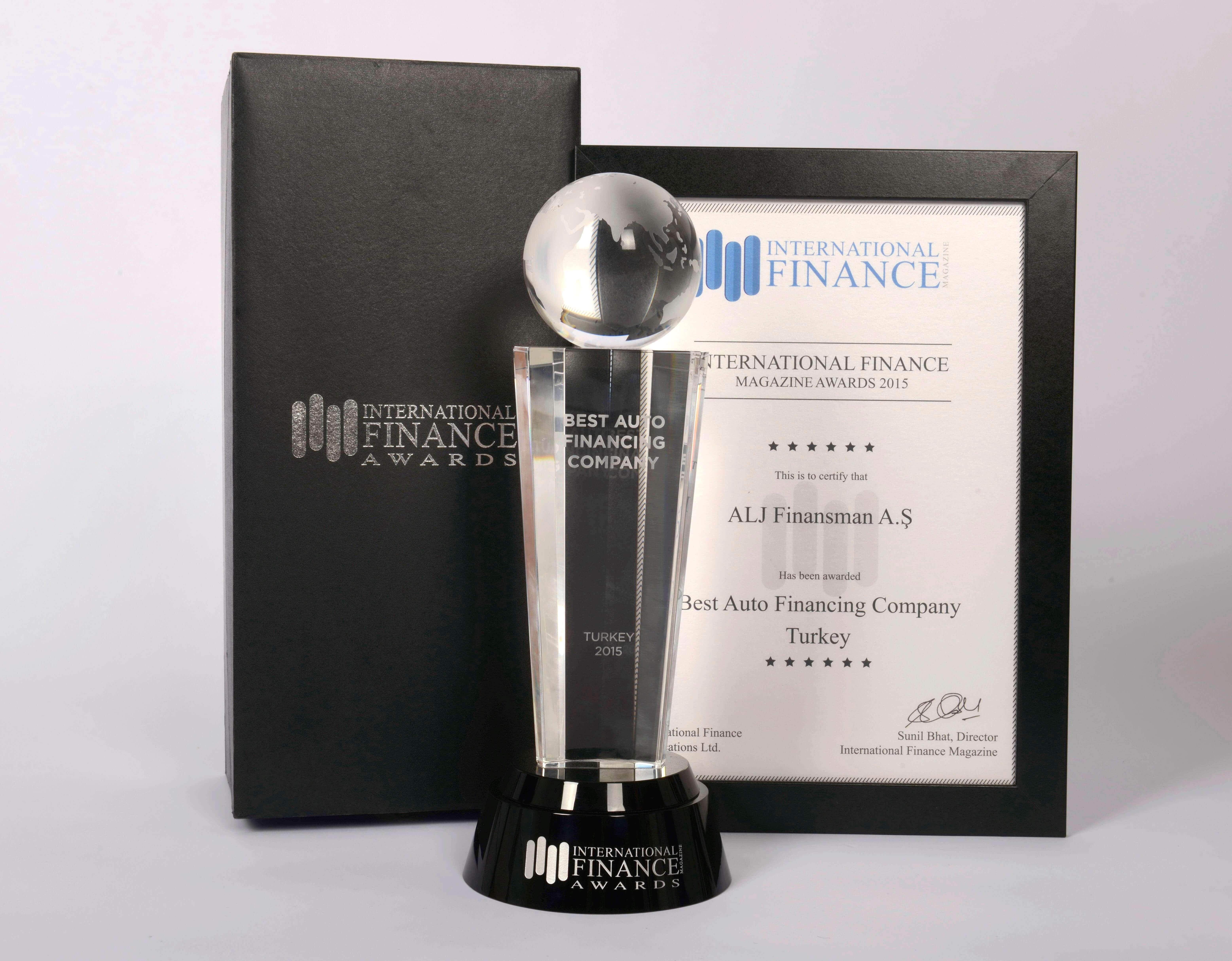 ALJ Finans named 'Best Auto Financing Company' in Turkey