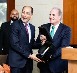 Dr. Ibrahim Saif, Minister of Energy and Mineral Resources and Roberto de Diego Arozamena, Chief Executive Officer of Abdul Latif Jameel Energy