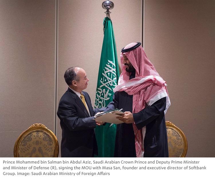 Prince Mohammed bin Salman bin Abdul Aziz and Masa San