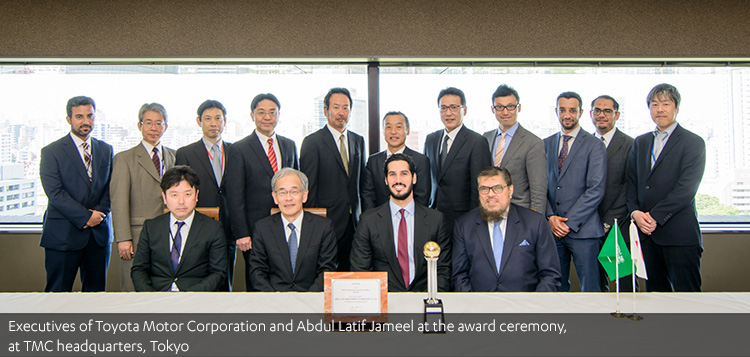 Going for gold!  Abdul Latif Jameel Motors receives Toyota's biggest award for the eighth consecutive year