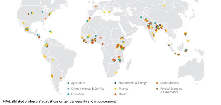 مختبر جميل لمكافحة الفقر (J-PAL) يكشف النقاب عن شواهد تمكين المرأة والحد من الفقر