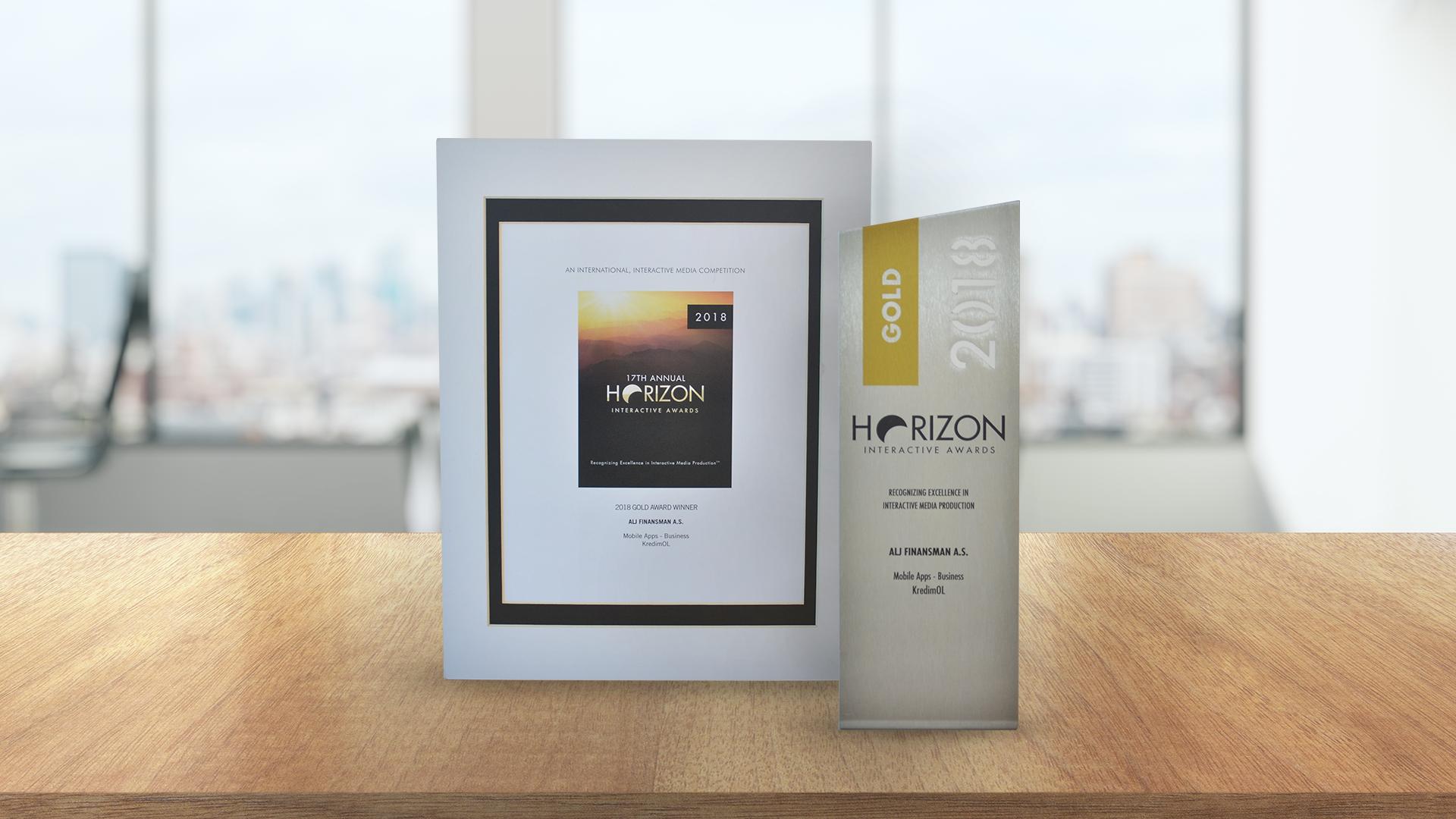 ALJ Finans wins Gold international interactive media award for KredimOL mobile App