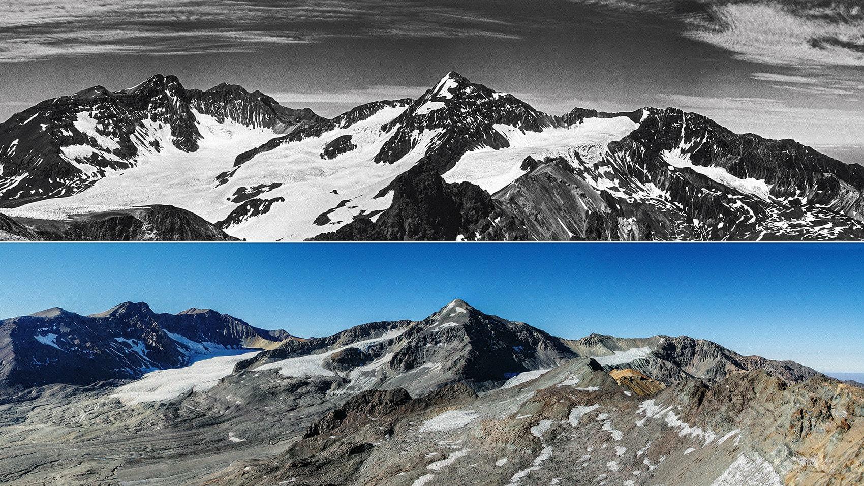 Portillio del Cerro Negro Olivares Alfa Glacier